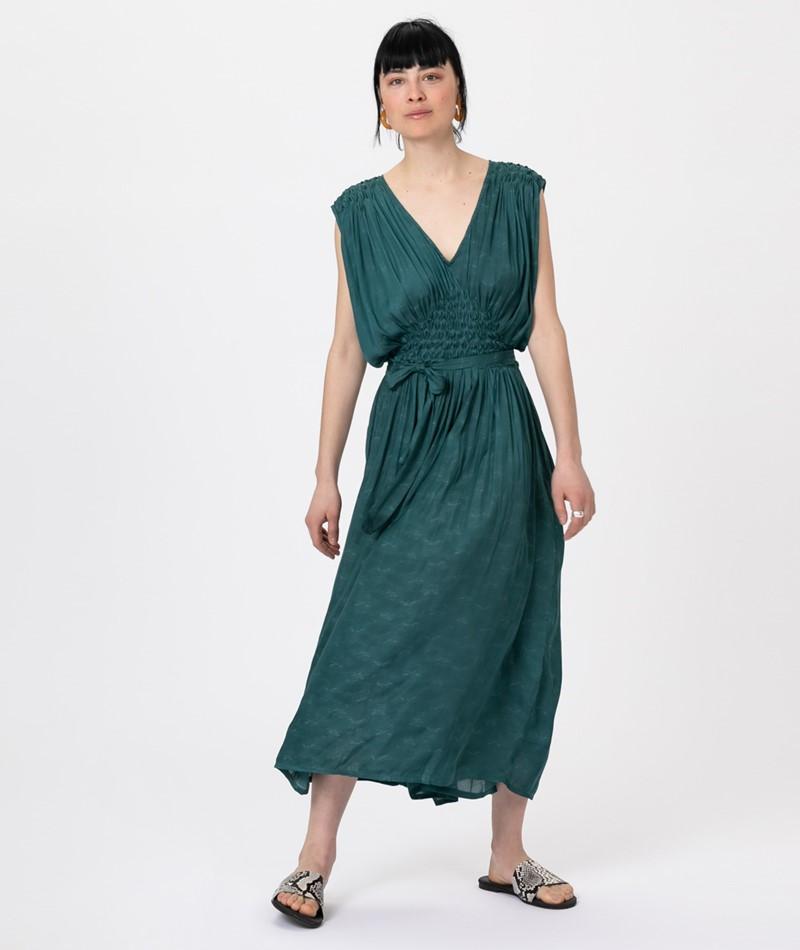 SESSUN Ava Kleid june green
