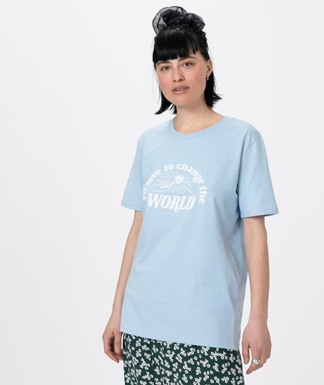 WOMOM Change the world T-Shirt hellblau