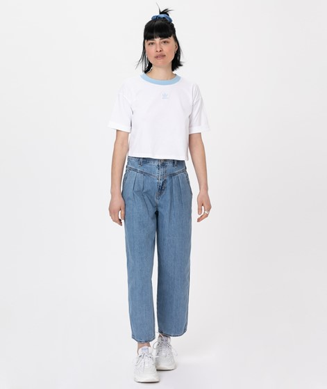 ADIDAS Crop Top T-Shirt white/ clear sky