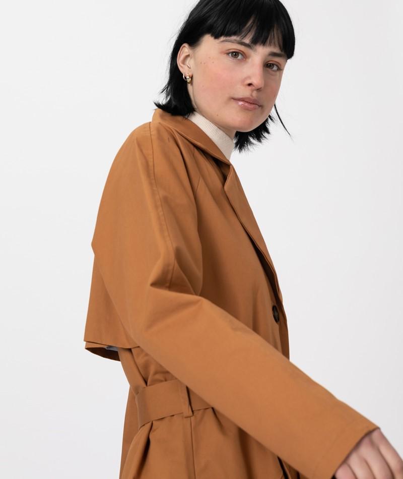 MOSS COPENHAGEN Angela Trench Coat brown