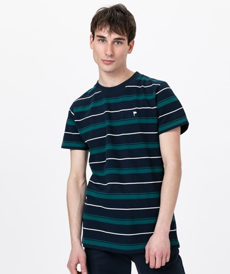 WEMOTO Arthur Stripe T-Shirt navy blue