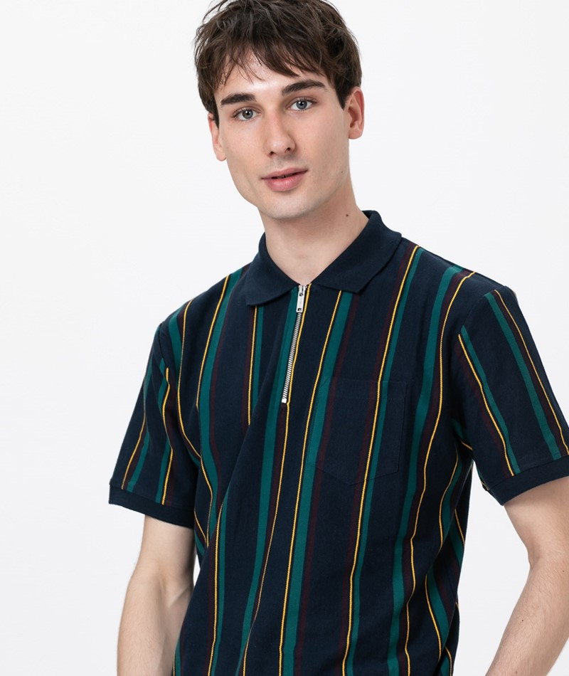 WEMOTO Ace Polo navy blue-dark green