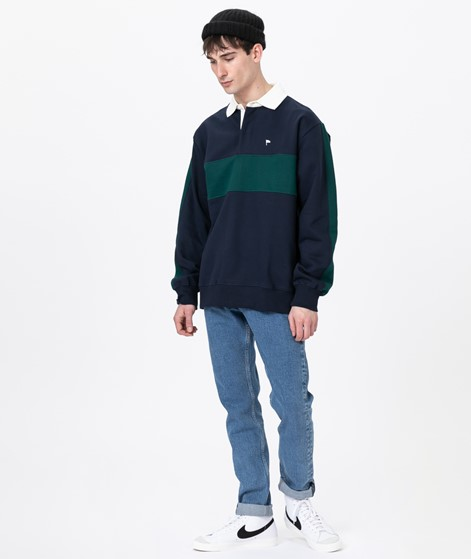 WEMOTO Dan Sweater navy blue- dark green