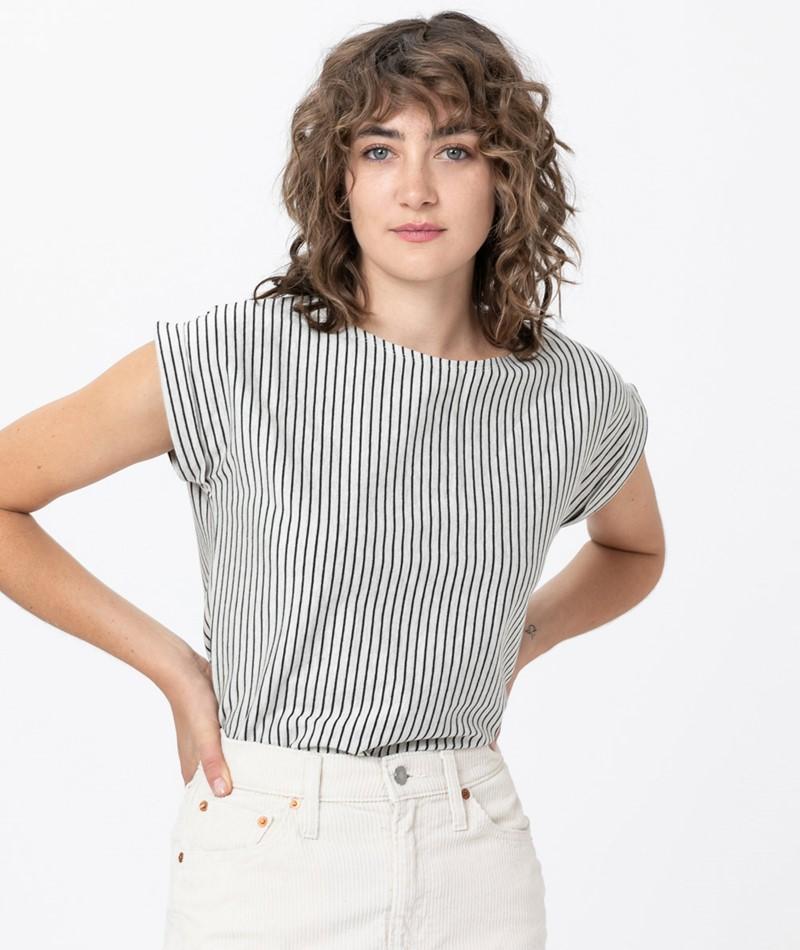 WEMOTO Bell Stripe T-Shirt sand-black