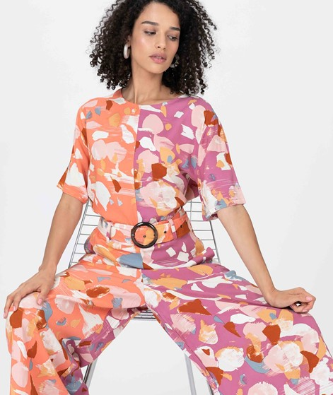 NATIVE YOUTH Dafne Overall peach print