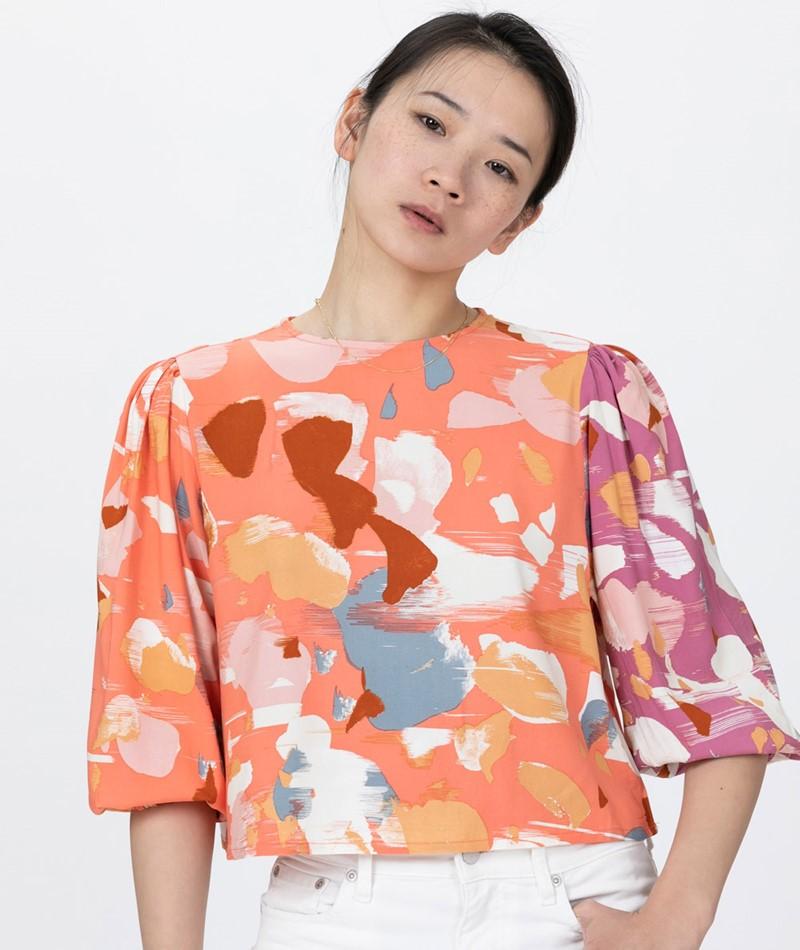 NATIVE YOUTH Dafne Bluse peach print