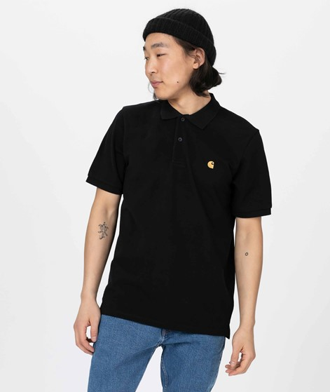 CARHARTT WIP S/S Chase Pique Polo black