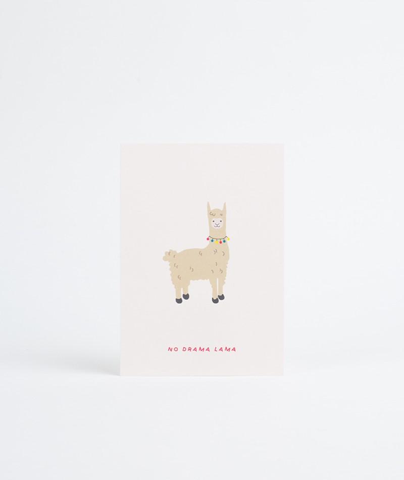 KAUF DICH GLÜCKLICH Postkarte Lama