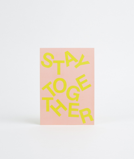 KAUF DICH GLÜCKLICH Postkarte Stay