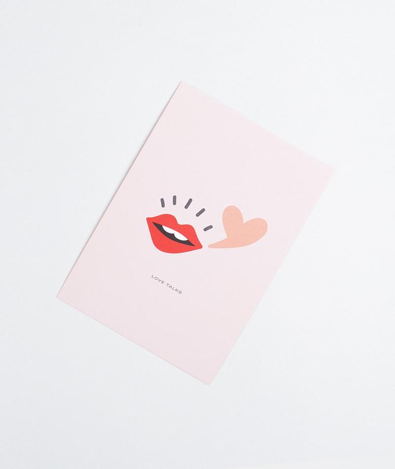 KAUF DICH GLÜCKLICH Postkarte Love Talks