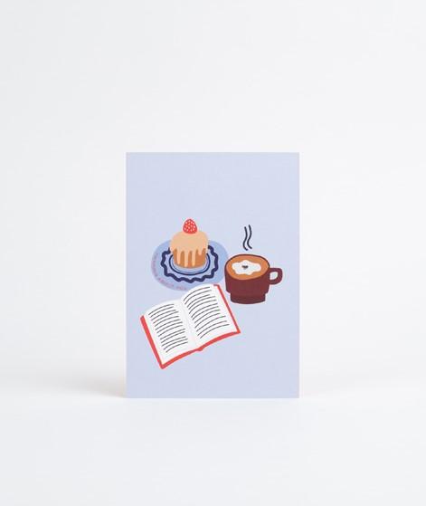 KAUF DICH GLÜCKLICH Postkarte Thinking