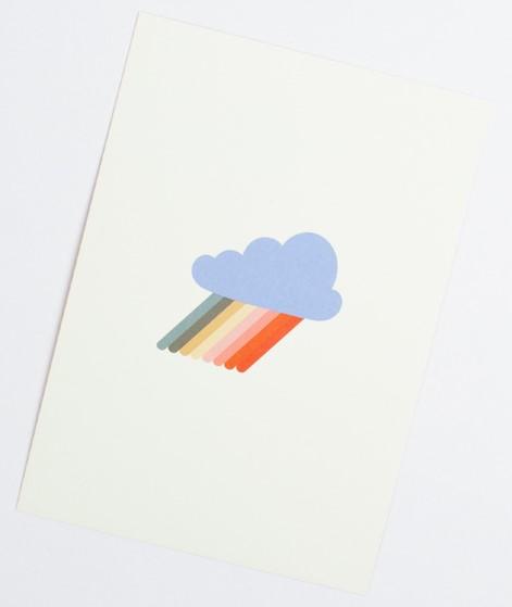 KAUF DICH GLÜCKLICH Postkarte Rainbow