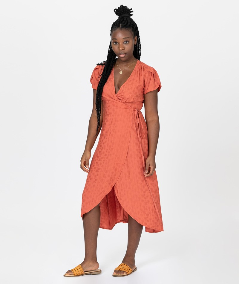 DESIGNERS SOCIETY Palms Wrap Long Kleid