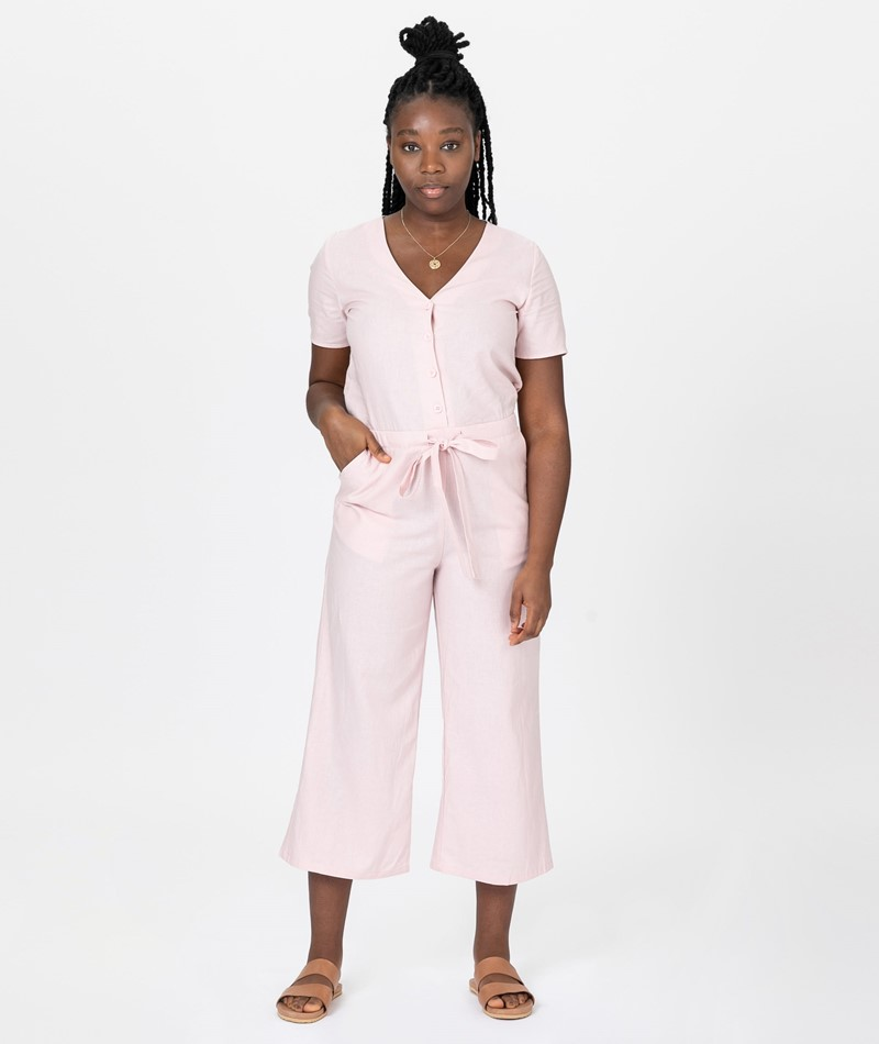 DESIGNERS SOCIETY Linen Overall pink