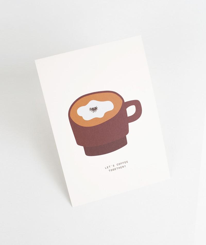 KAUF DICH GLÜCKLICH Postkarte Let`s