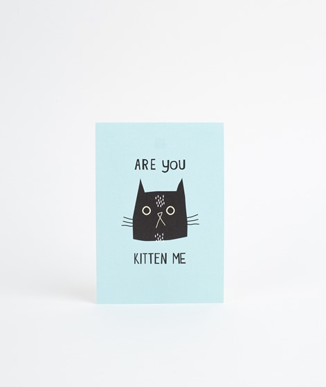 KAUF DICH GLÜCKLICH Postkarte Kitten