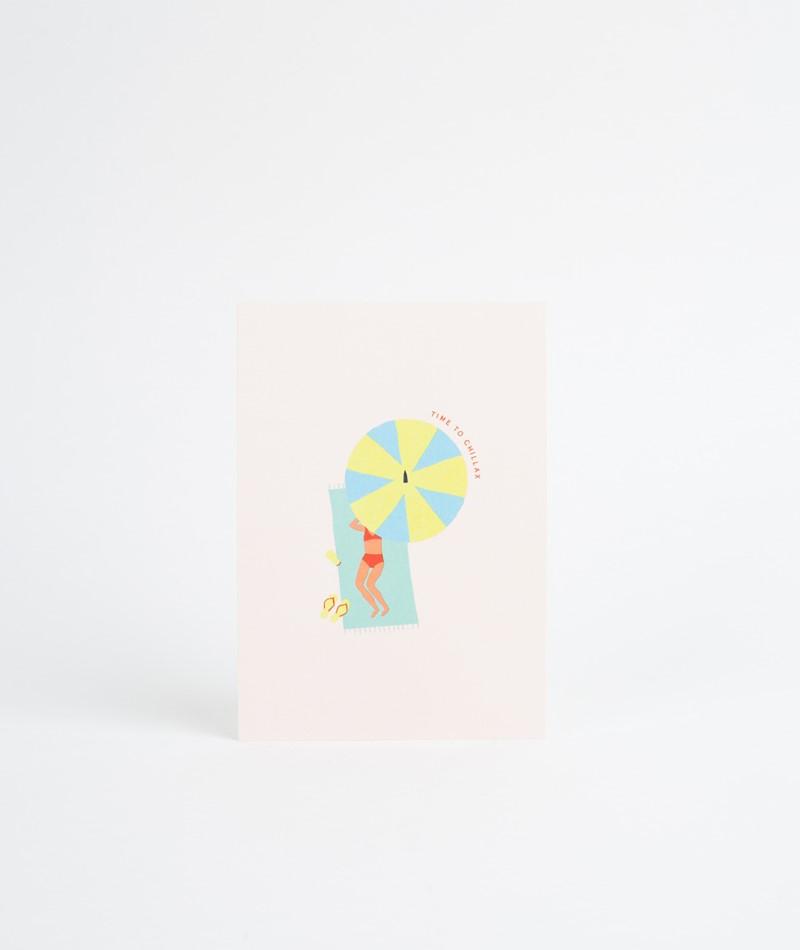 KAUF DICH GLÜCKLICH Postkarte Chillax