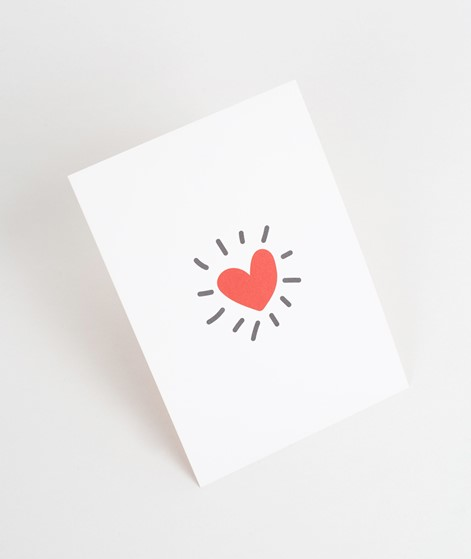 KAUF DICH GLÜCKLICH Postkarte Heart