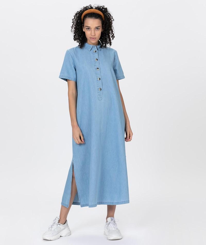 SELECTED FEMME SLFTESS Midi Kleid blue