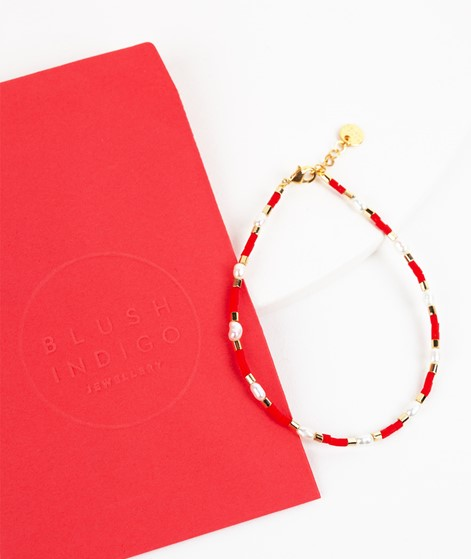BLUSH INDIGO Capri Bracelet red