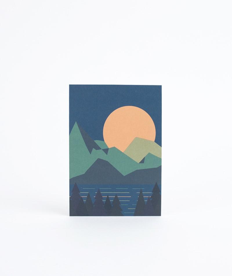 KAUF DICH GLÜCKLICH Postkarte Mountain