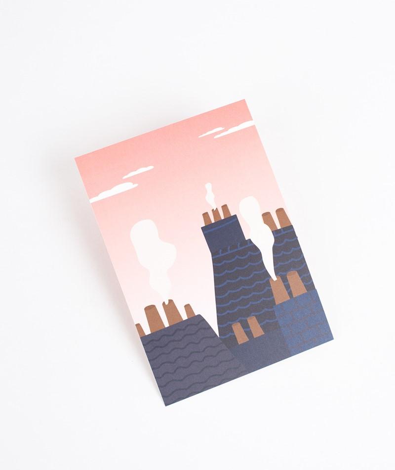 KAUF DICH GLÜCKLICH Postkarte Paris