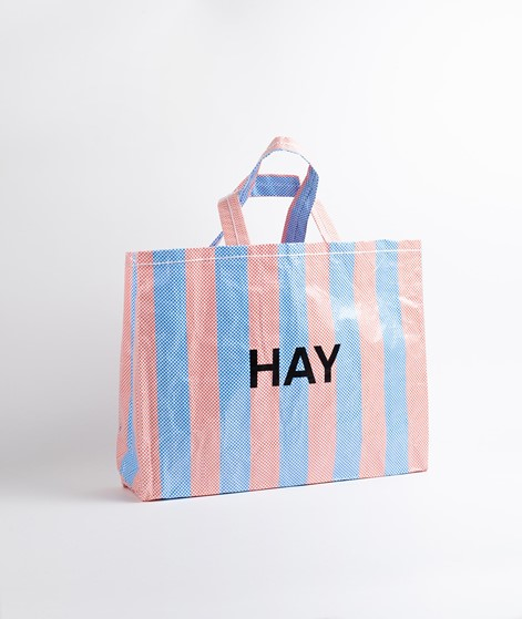 HAY Candy Stripe Shopper blue and orange