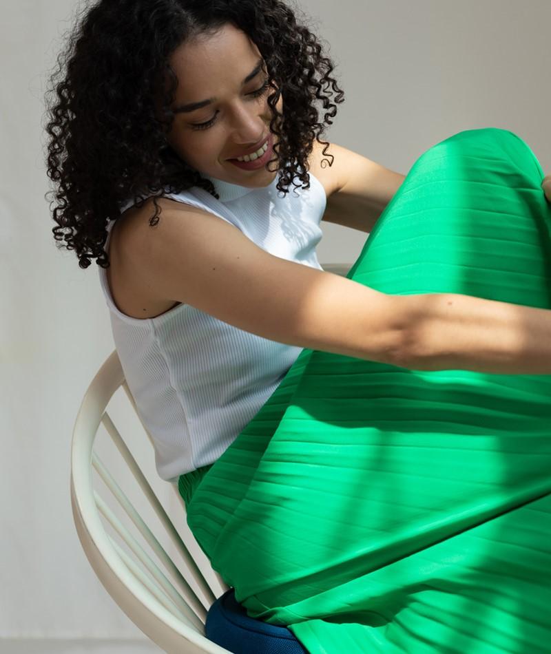 SELECTED FEMME SLFAlexis Midi Rock green