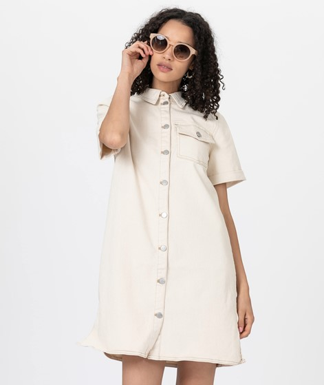 VILA VIGlove Denim Kleid whisper white