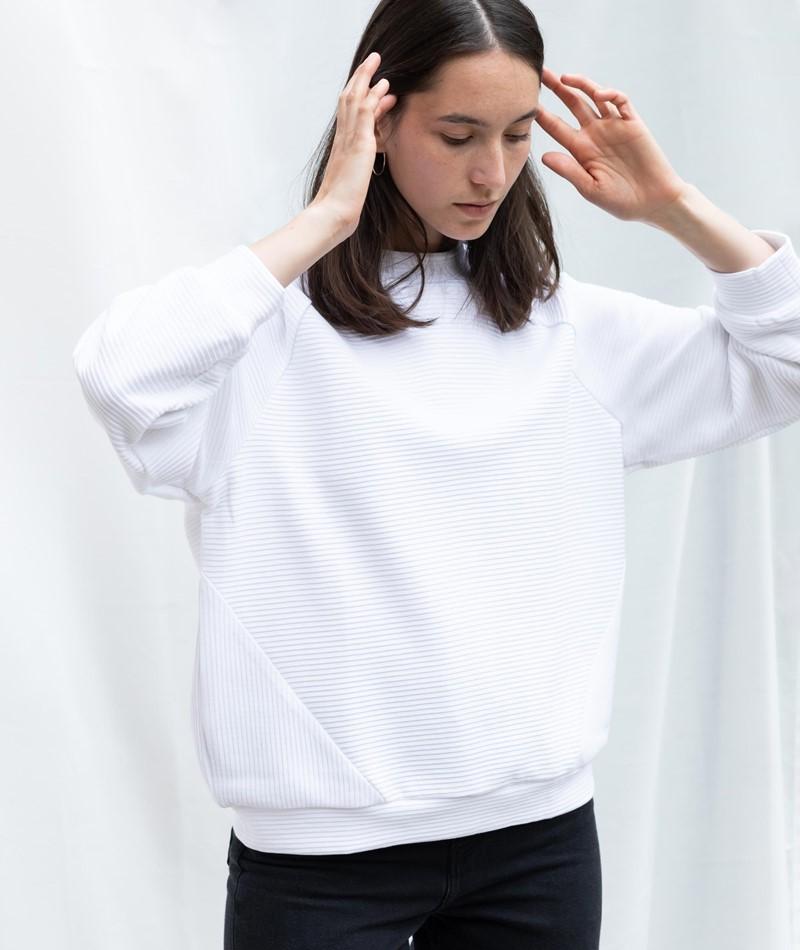 JAN N JUNE Toulon O-Sweater white