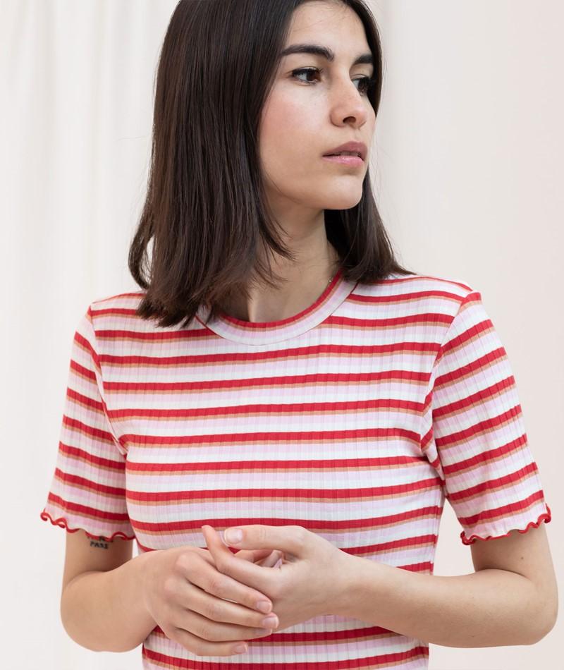 MADS NORGAARD Tubas Frill T-Shirt multi