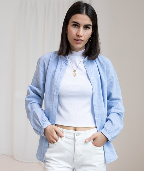 MADS NORGAARD Linen Lux Swaggy Bluse