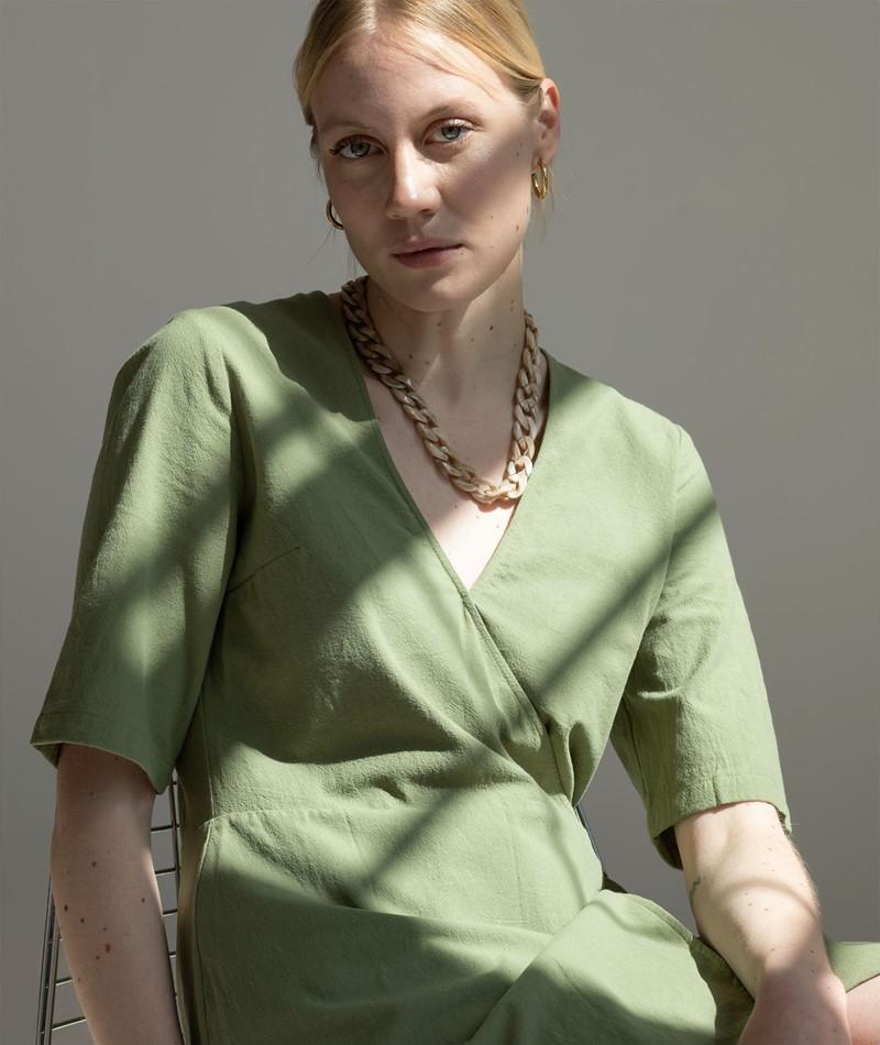 ANOTHER LABEL Brenna Kleid loden green