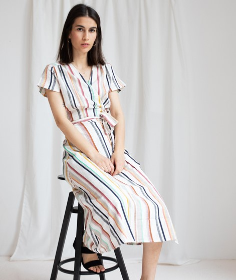 DESIGNERS SOCIETY Wrap Striped Kleid