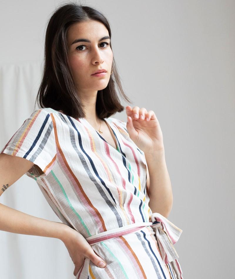 DESIGNERS SOCIETY Wrap Striped Kleid