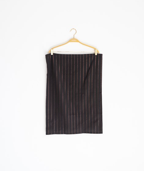 MADAM STOLTZ Striped Kitchen Towel black