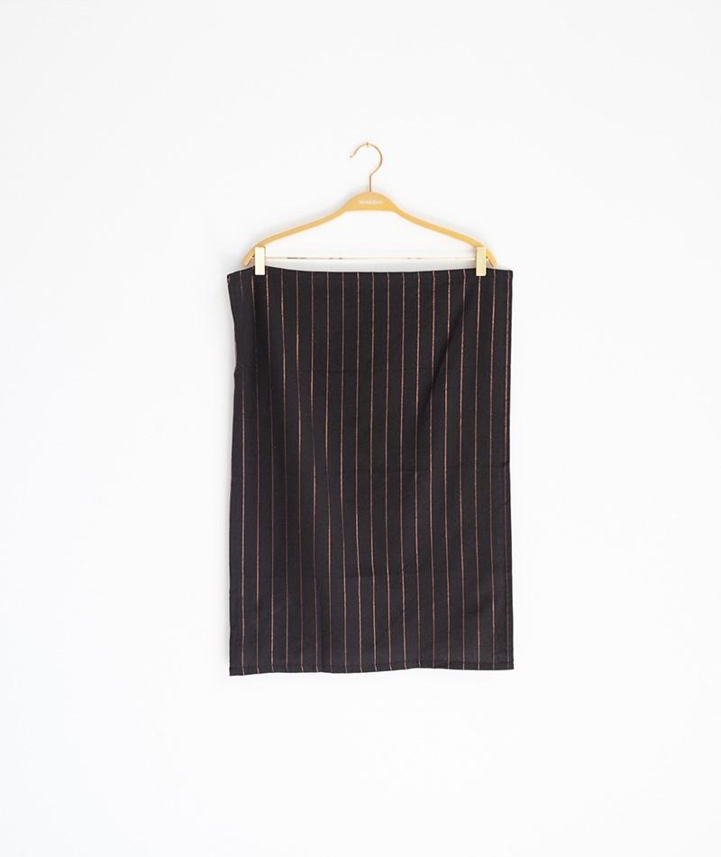 MADAM STOLTZ Striped Kitchen Towel black