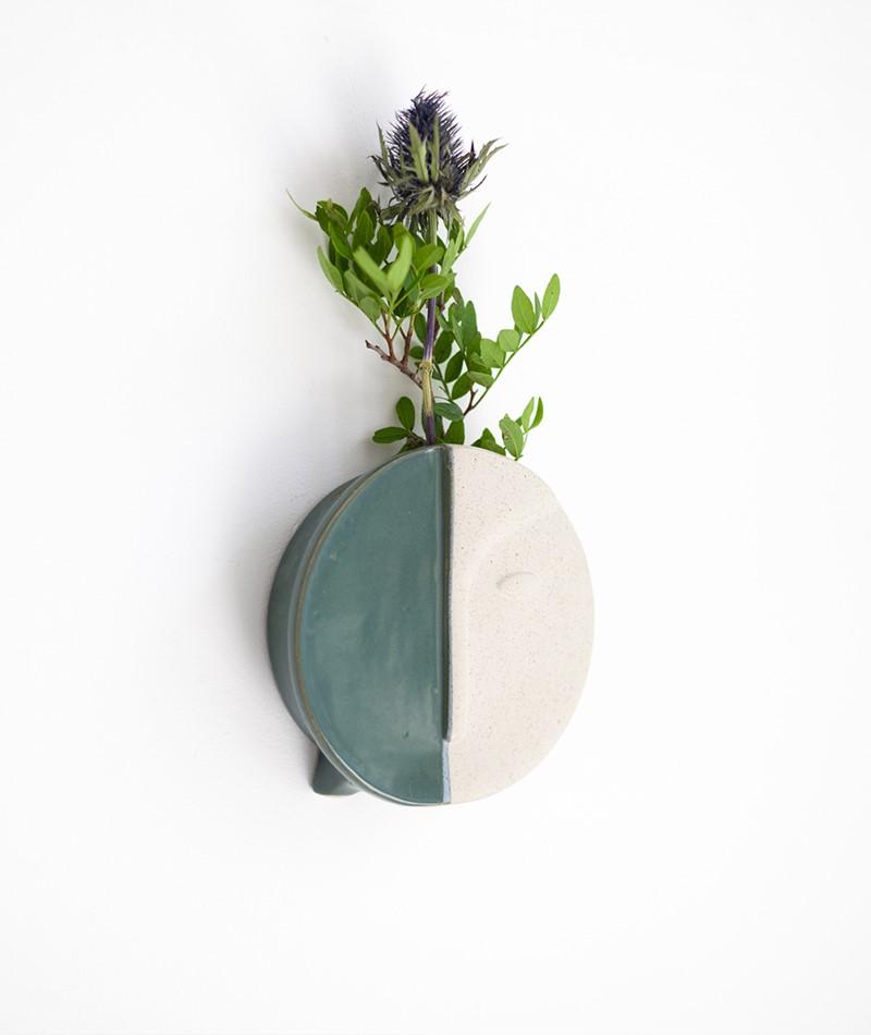 BLOOMINGVILLE Wall Vase green