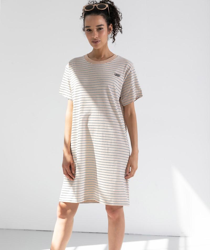 LEVIS Serif Lula Tee Kleid gestreift