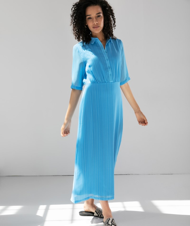 ANOTHER LABEL Ancelin Kleid blau