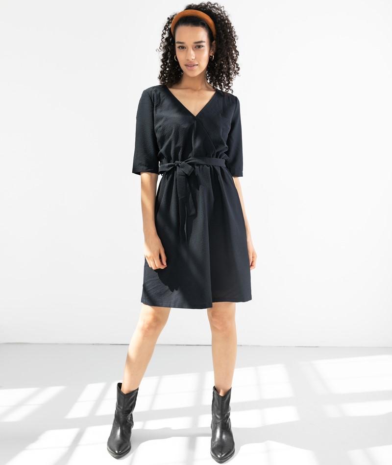 ANOTHER LABEL Gold Kleid schwarz