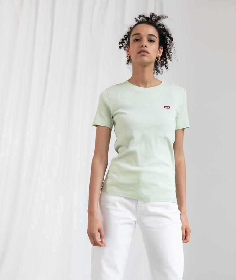 LEVIS SS Rib Baby T-Shirt hellgrün
