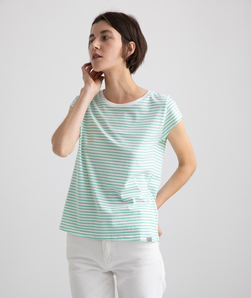 MADS NORGAARD Stripe Teasy T-Shirt