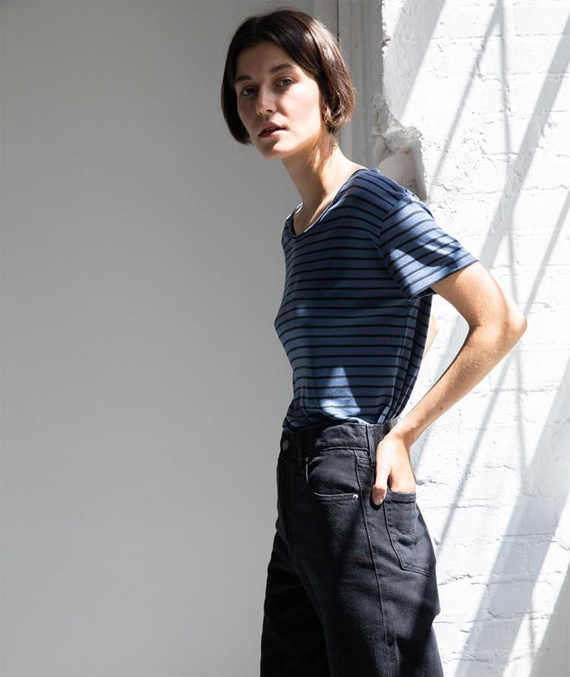 MBYM Lucianna T-Shirt moonless gestreift