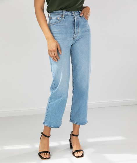 LEVIS Ribcage Straight Ankle Jeans denim