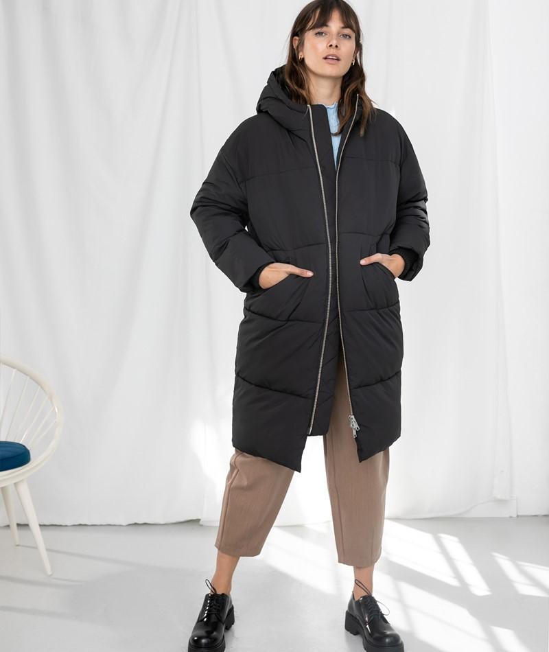 EMBASSY Elphin Puffer Coat schwarz