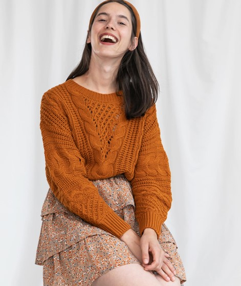 VILA VIDita Stirckpullover orange