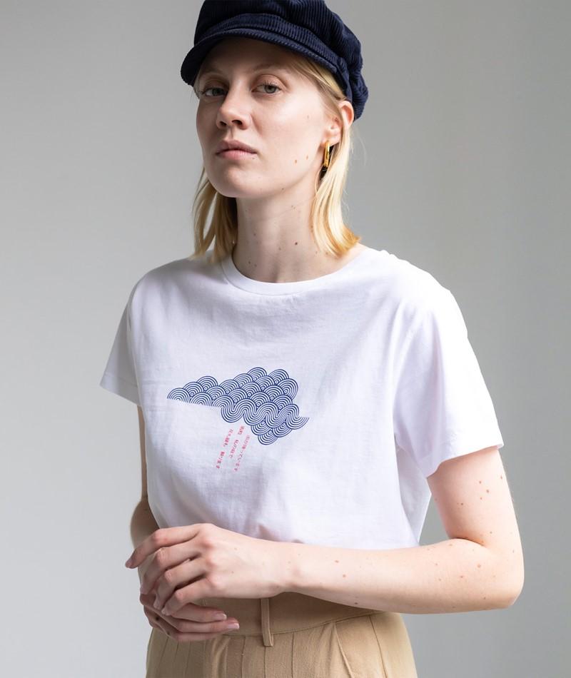 KAUF DICH GLÜCKLICH T-Shirt weiß Print