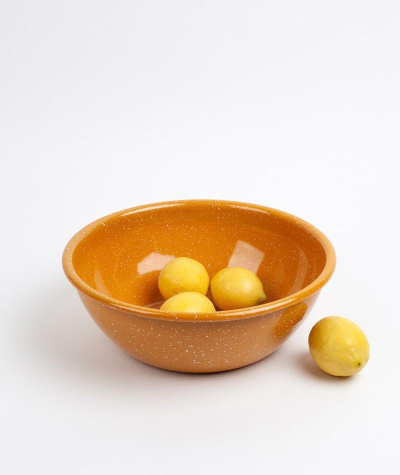 HAY Enamel/Salad Bowl dusty mustard