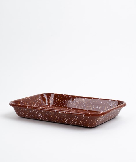 HAY Enamel Tray Rectangular brown